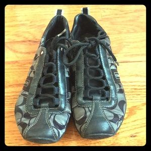 Black Coach sneakers